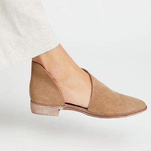 Free people Royale flat taupe suede